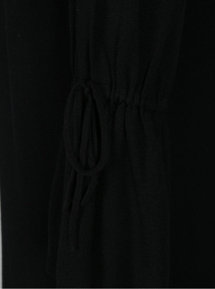 Černý dlouhý kardigan se stahováním na rukávech ONLY Belina