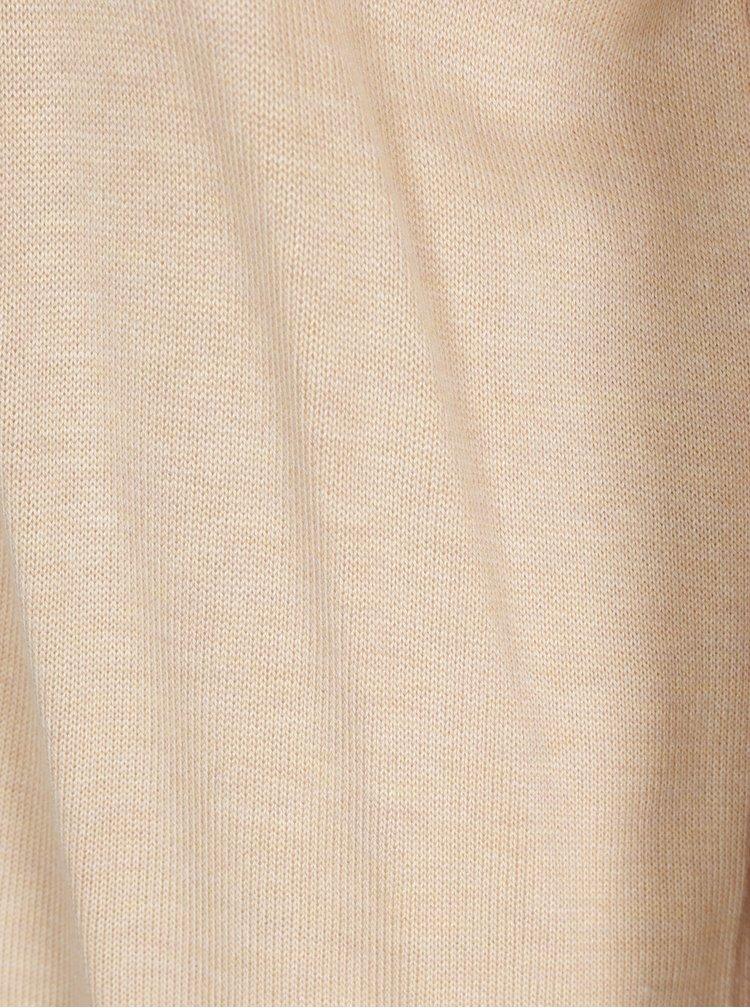 Béžový žíhaný kardigan ONLY Silje