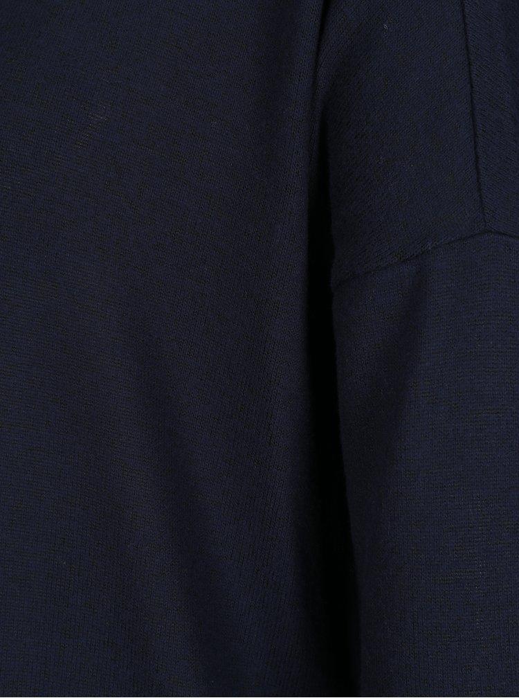 Modrý voľný sveter s 3/4 rukávom ONLY New Maye