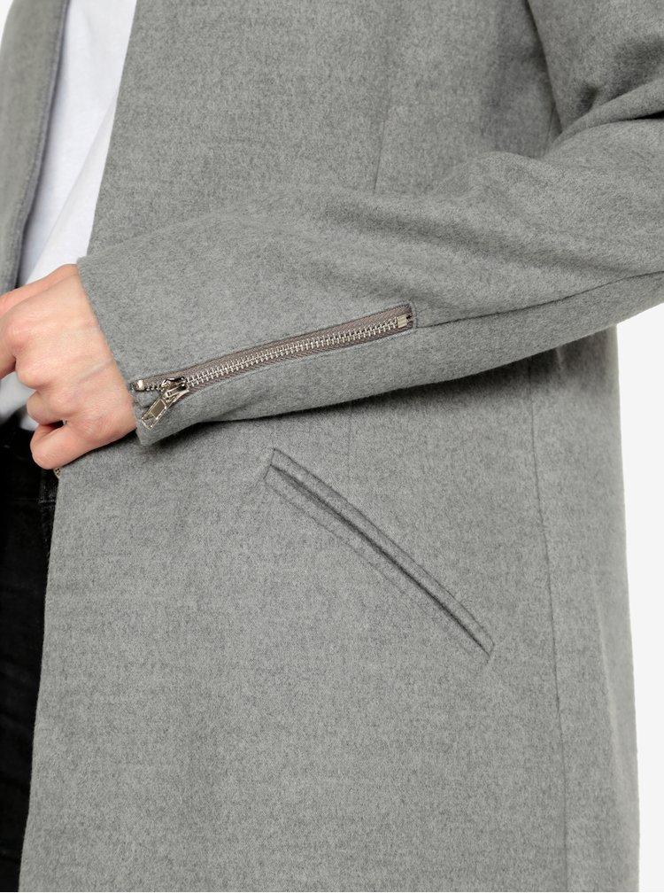 Šedý kabát MISSGUIDED