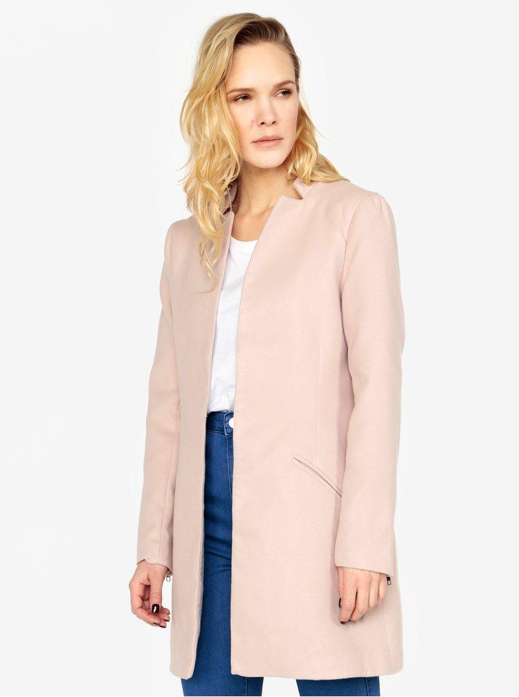 Starorůžový kabát MISSGUIDED