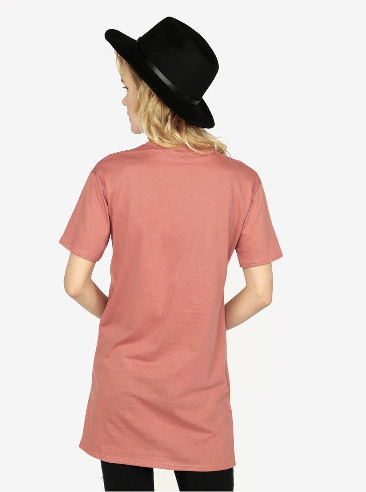 Tricou lung corai - MISSGUIDED