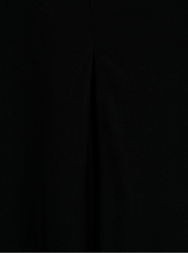 Černý volný top s véčkovým výstřihem ONLY Nova