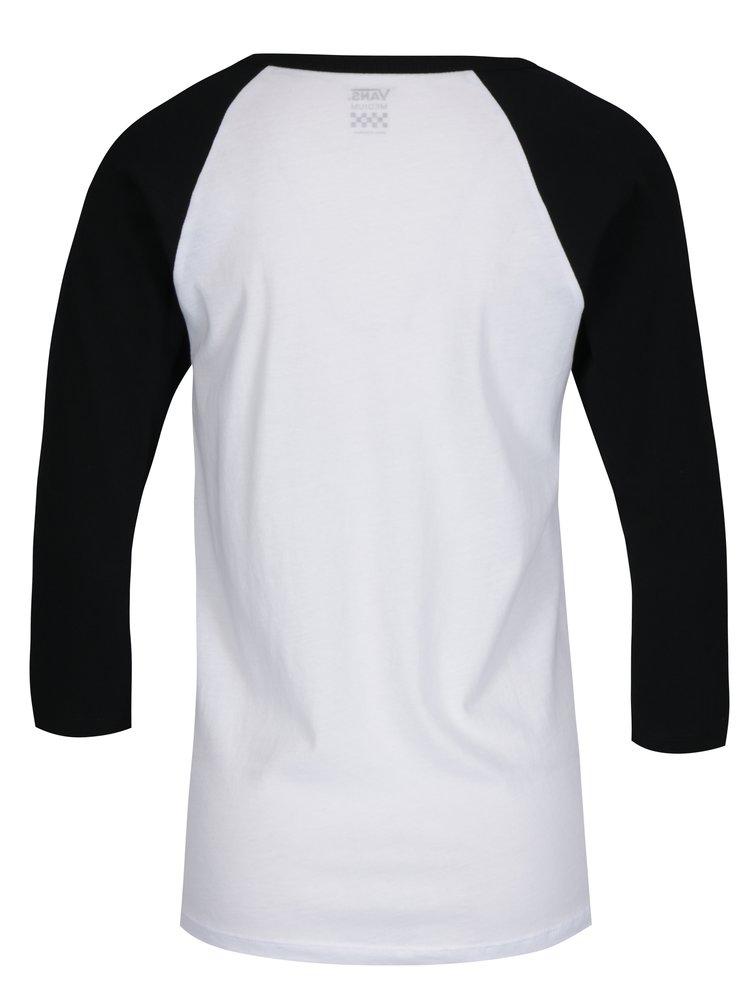 Černo-bílé dámské tričko s potiskem VANS Flying