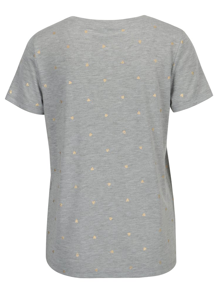 Šedé žíhané vzorované tričko ONLY Isabella