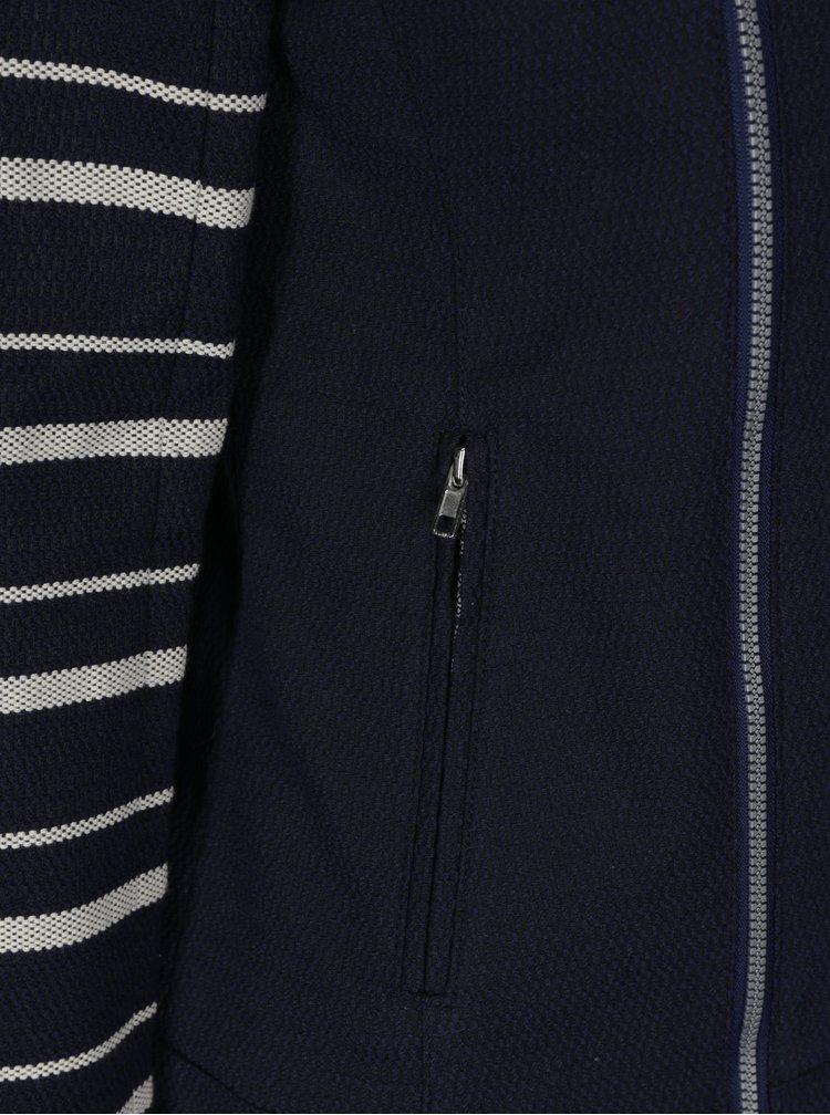 Tmavě modré sako s výšivkou Desigual Anae