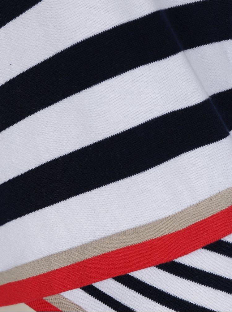 Modro-bílý pruhovaný svetr Desigual Saligna