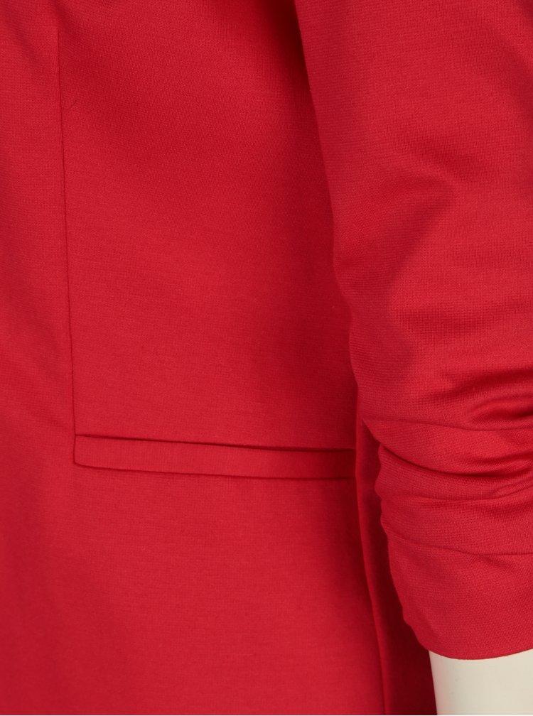 Sacou rosu cu maneci 3/4 incretite - Miss Selfridge