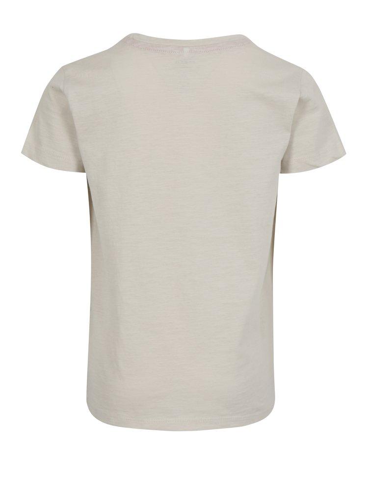 Krémové klučičí tričko s potiskem name it Hiclas