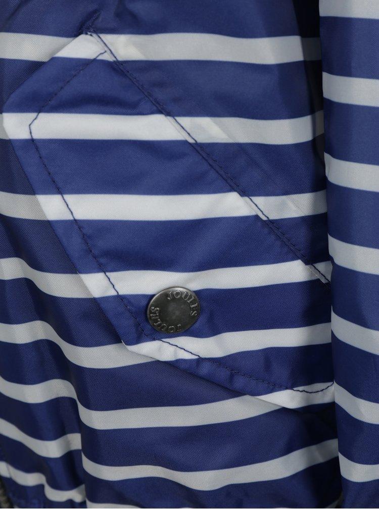 Tmavě modrá klučičí pruhovaná neopromokavá bunda Tom Joule Rowan