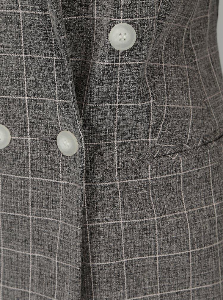 Šedé kostkované žíhané sako Miss Selfridge