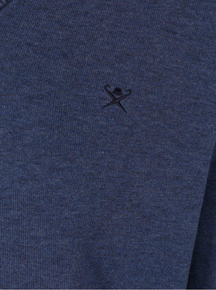 Modrý svetr s véčkovým výstřihem Hackett London