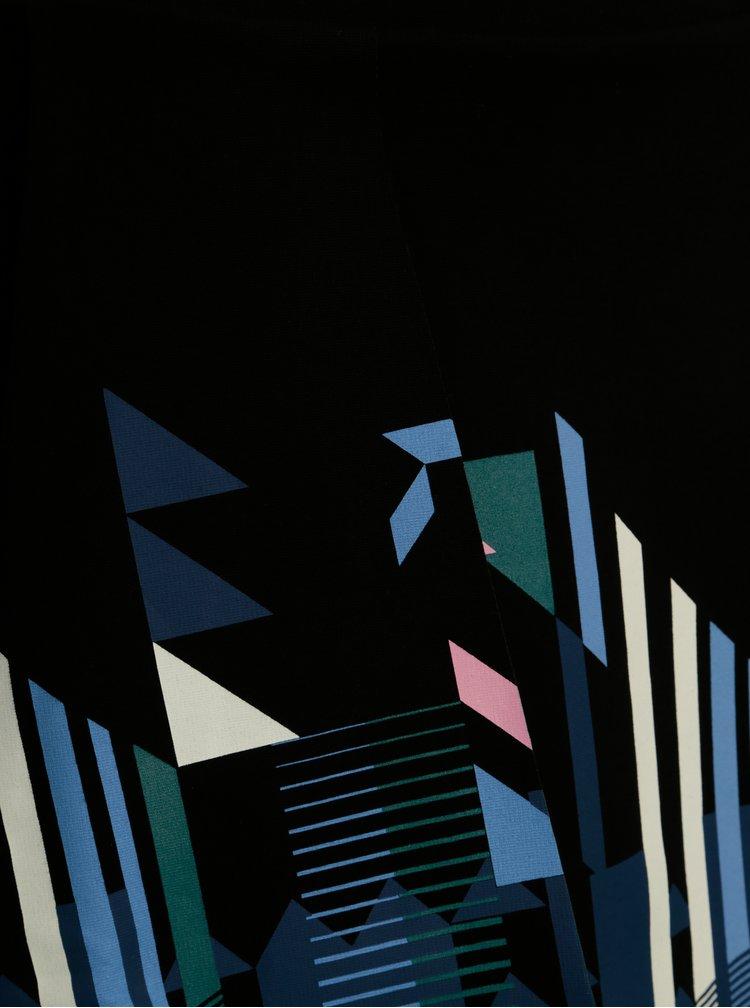 Fusta neagra asimetrica cu print geometric - Desigual Aunice