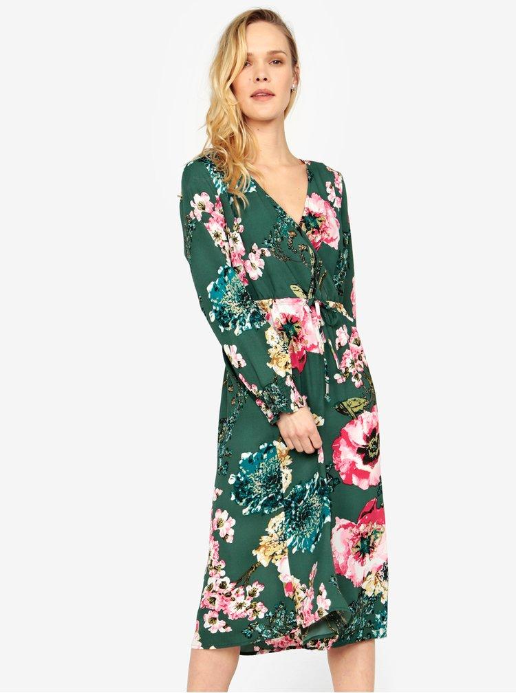 Rochie verde cu print floral ONLY Katehrine