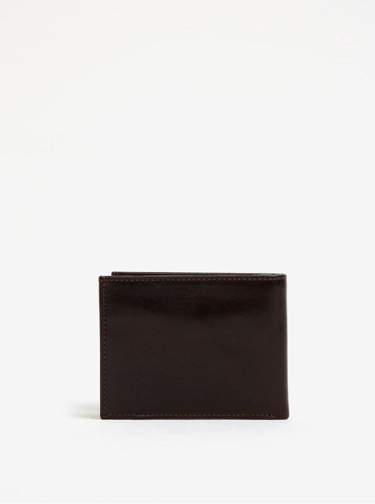 Tmavě hnědá pánská kožená peněženka Royal RepubliQ Alliance