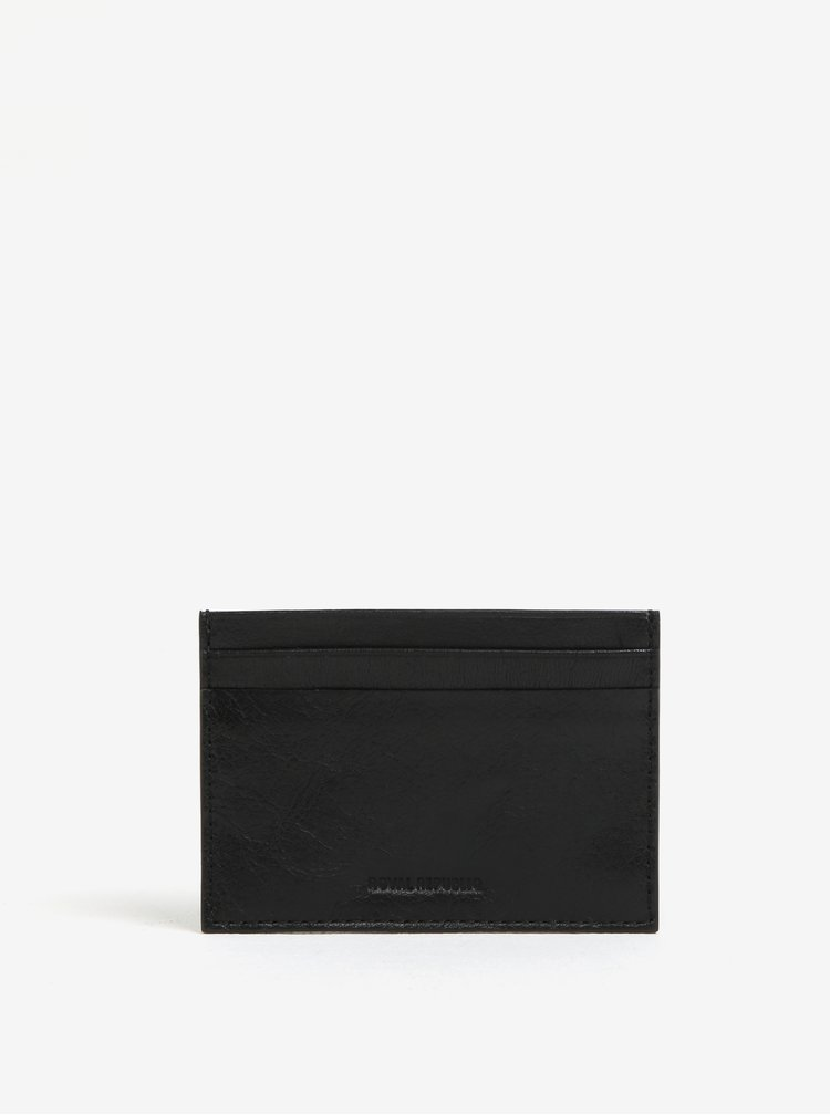 Černé kožené pouzdro na karty Royal RepubliQ Alliance
