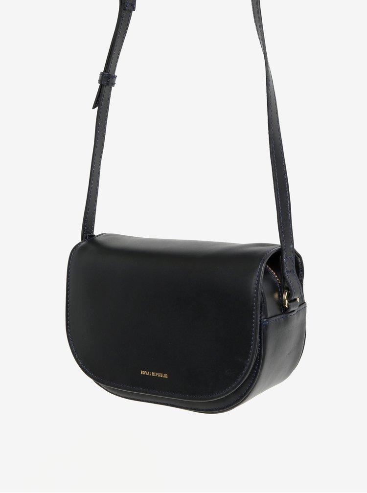Černá malá kožená crossbody kabelka Royal RepubliQ Raf Curve