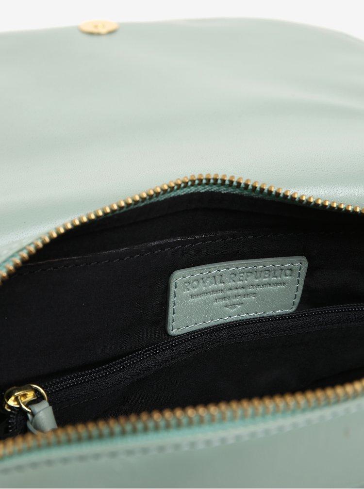 Světle zelená kožená crossbody kabelka Royal RepubliQ Raf Curve
