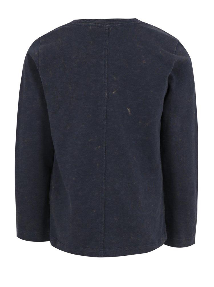 Tmavě modré klučičí tričko s potiskem name it Jesper