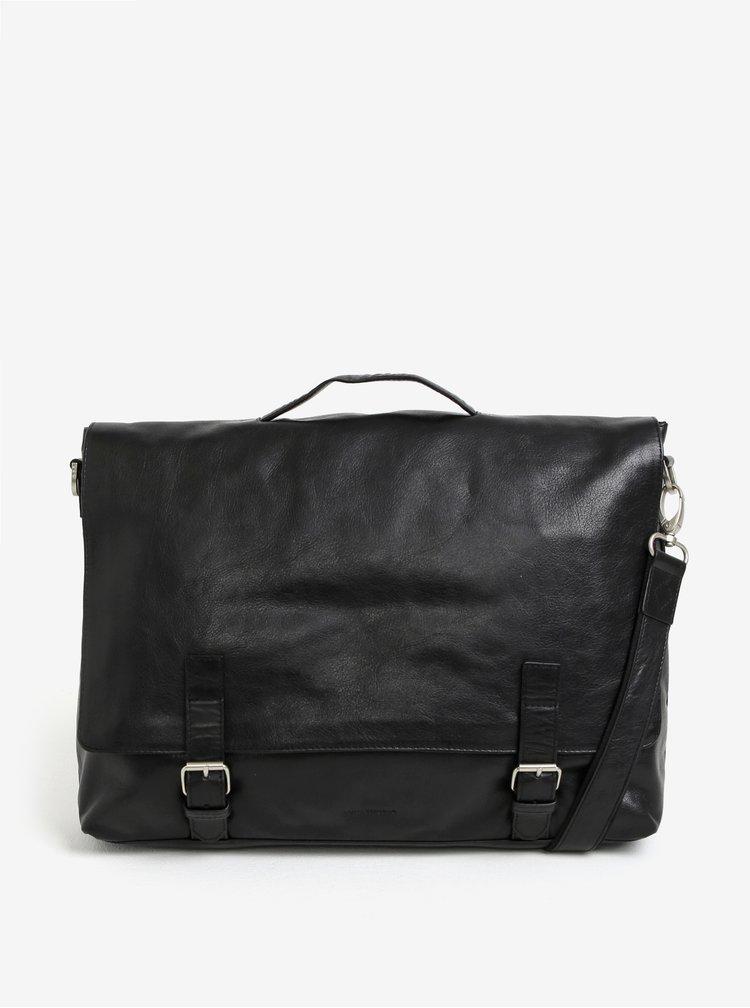 """Černá pánská kožená taška na notebook Royal RepubliQ Essential 13"""""""