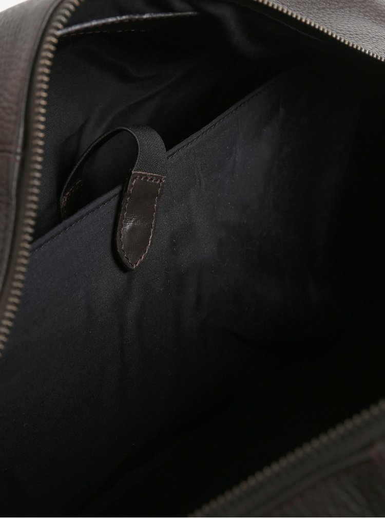 Hnědá pánská kožená cestovní taška Royal RepubliQ Omega