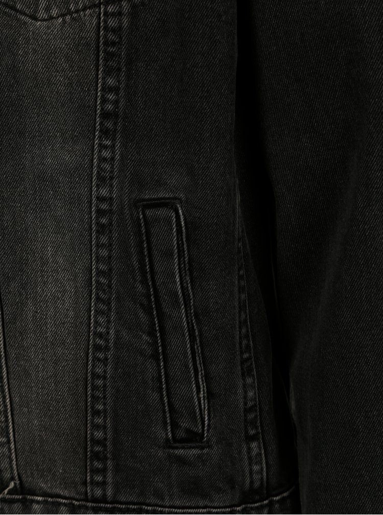 Jacheta gri inchis din denim - Selected Homme Jeffrey