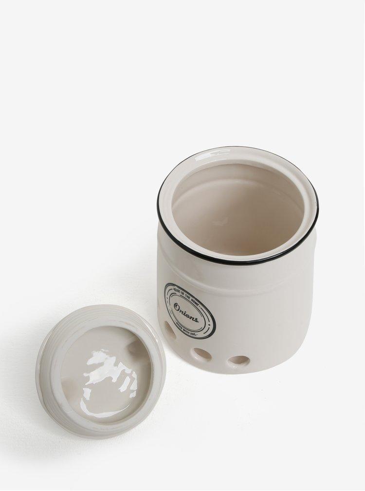 Bílá keramická dóza na cibuli SIFCON