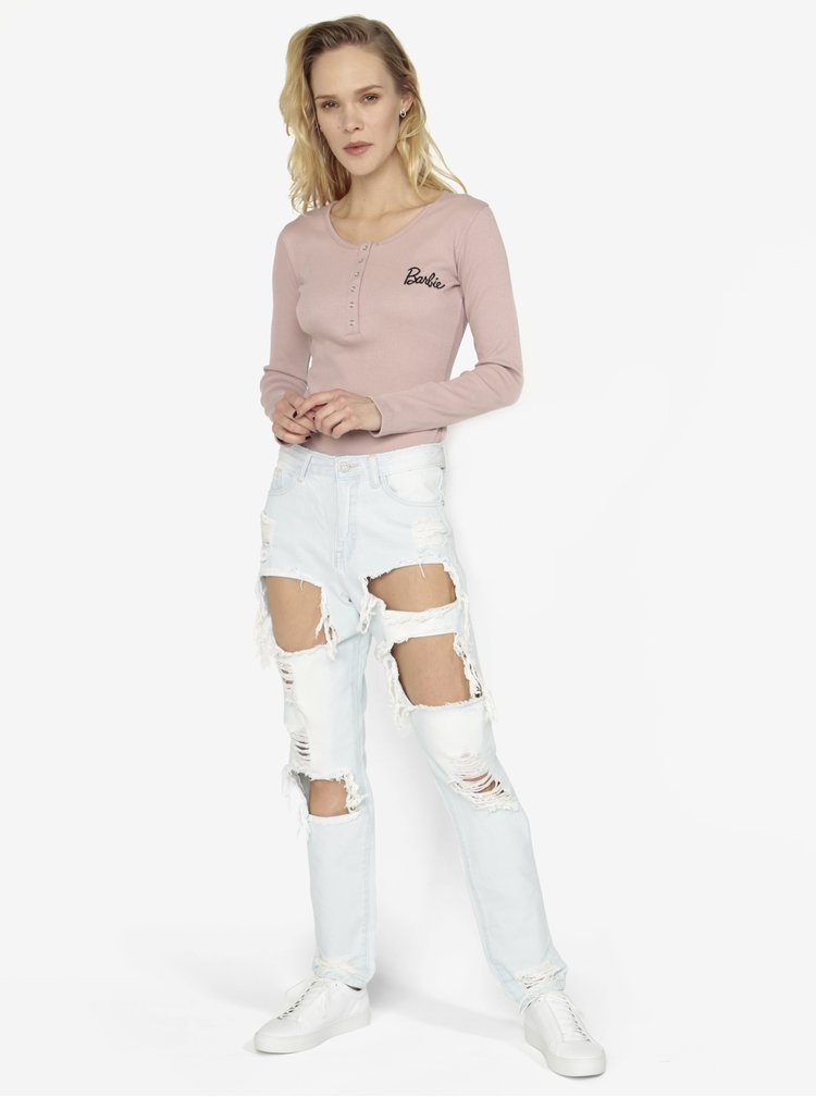 Modré mom rifle s dierami MISSGUIDED