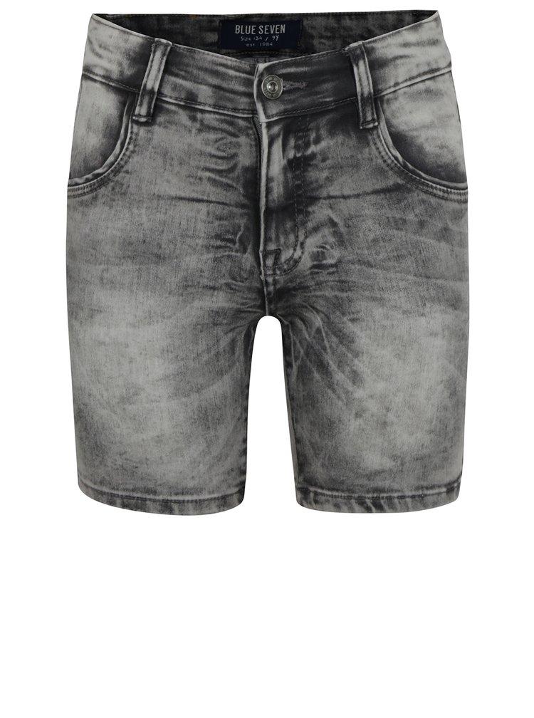 Šedé klučičí žíhané džínové kraťasy Blue Seven