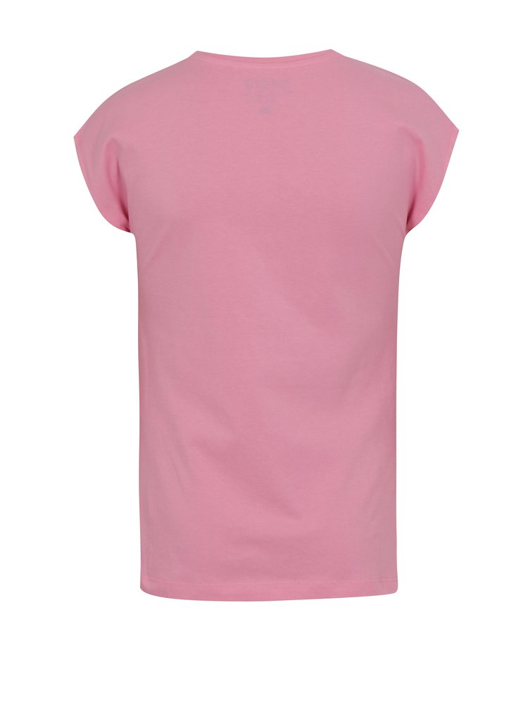 Růžové holčičí tričko s flitrovým nápisem Blue Seven