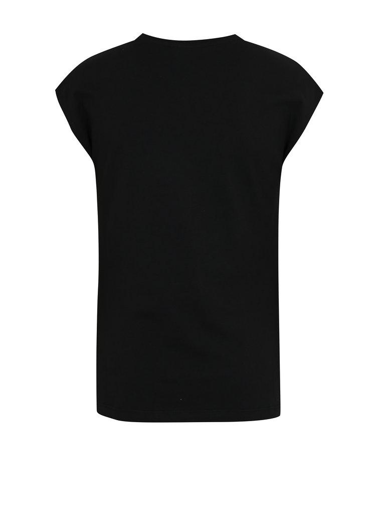 Černé holčičí tričko s magickými flitry Blue Seven
