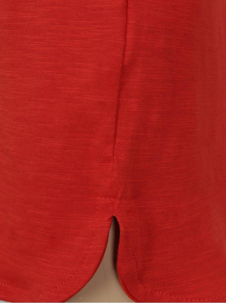 Červené klučičí tričko s kulatým spodním lemem a potiskem Blue Seven