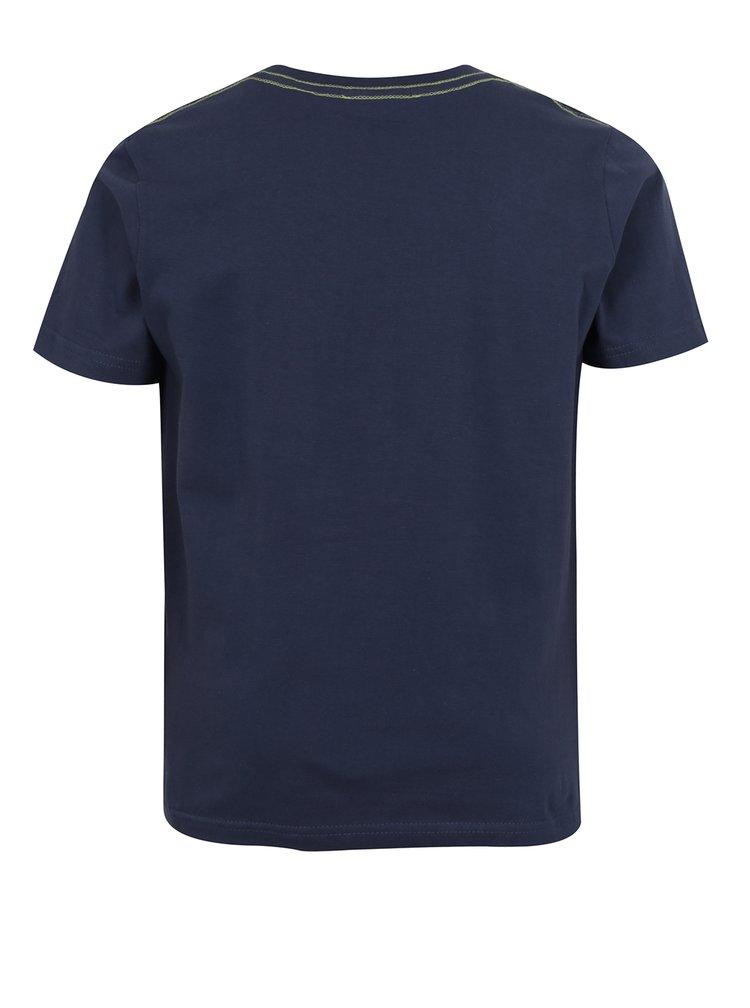 Tmavě modré klučičí tričko s potiskem bikera Blue Seven