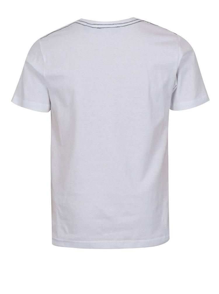 Bílé klučičí tričko s potiskem bikera Blue Seven