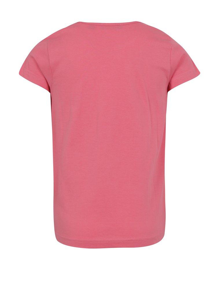 Růžové holčičí tričko s potiskem mořské panny Blue Seven