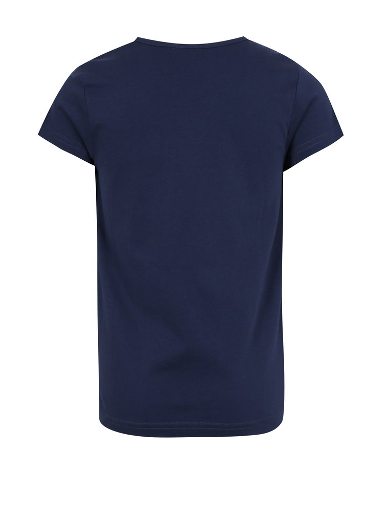 Tmavě modré holčičí tričko s potiskem mořské panny Blue Seven