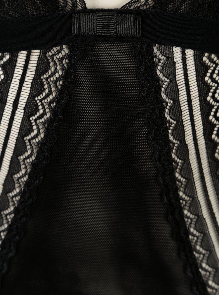 Čierne čipkované body ICÔNE Sue