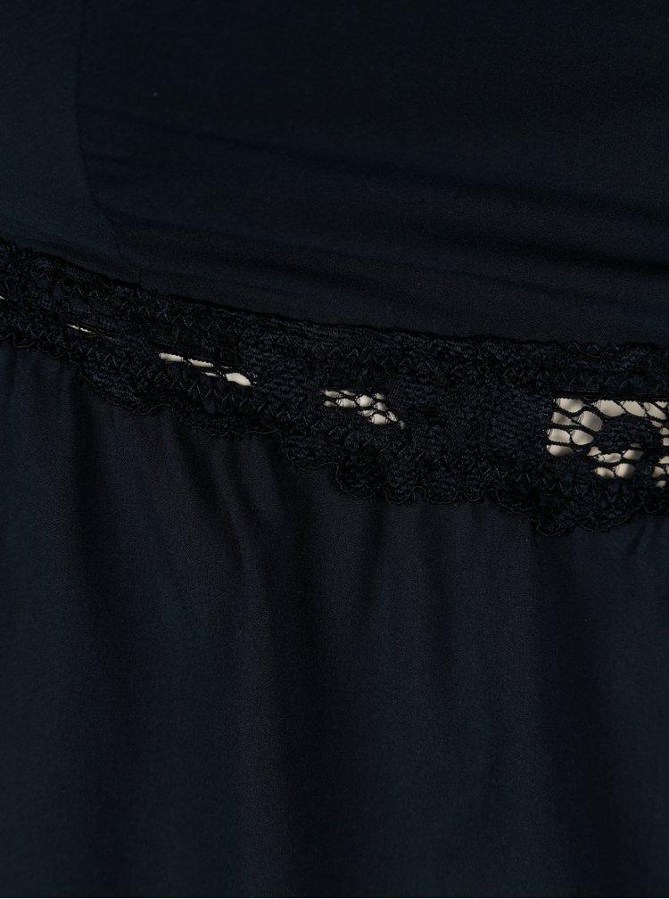 Camasa de noapte bleumarin cu detalii din dantela  ICÔNE Adenorah