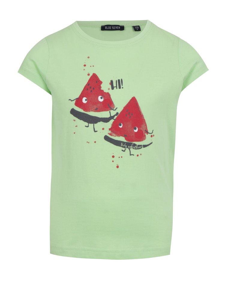 Světle zelené holčičí tričko s potiskem melounu Blue Seven