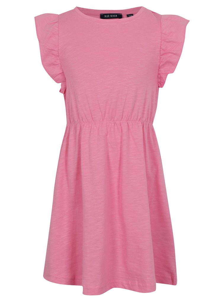 Světle růžové holčičí šaty s volány Blue Seven