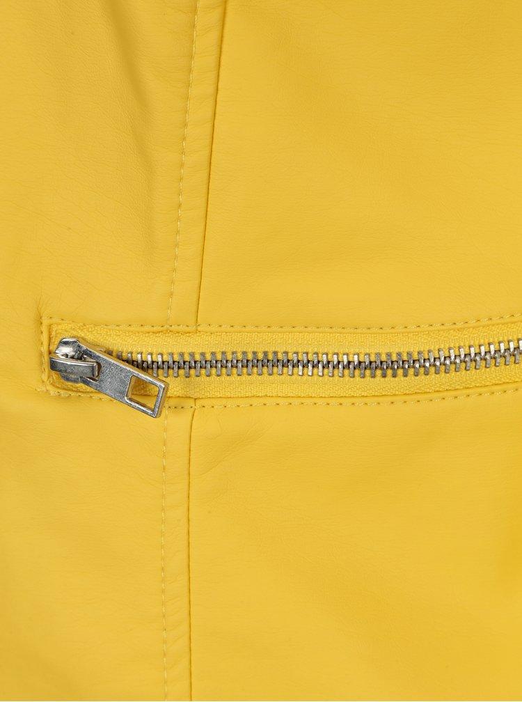 Žlutá koženková bunda Jacqueline de Yong Dream