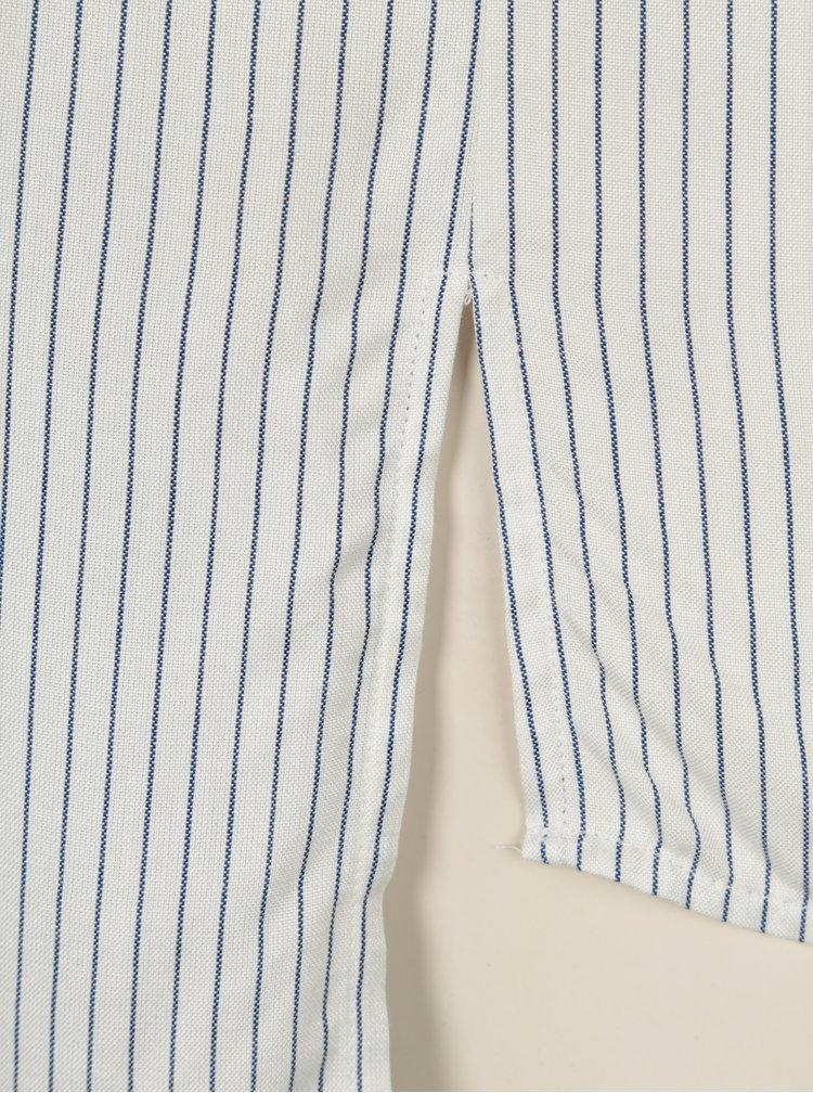 Camasa lunga crem cu dungi albastre si maneci ajustabile - Jacqueline de Yong Togo