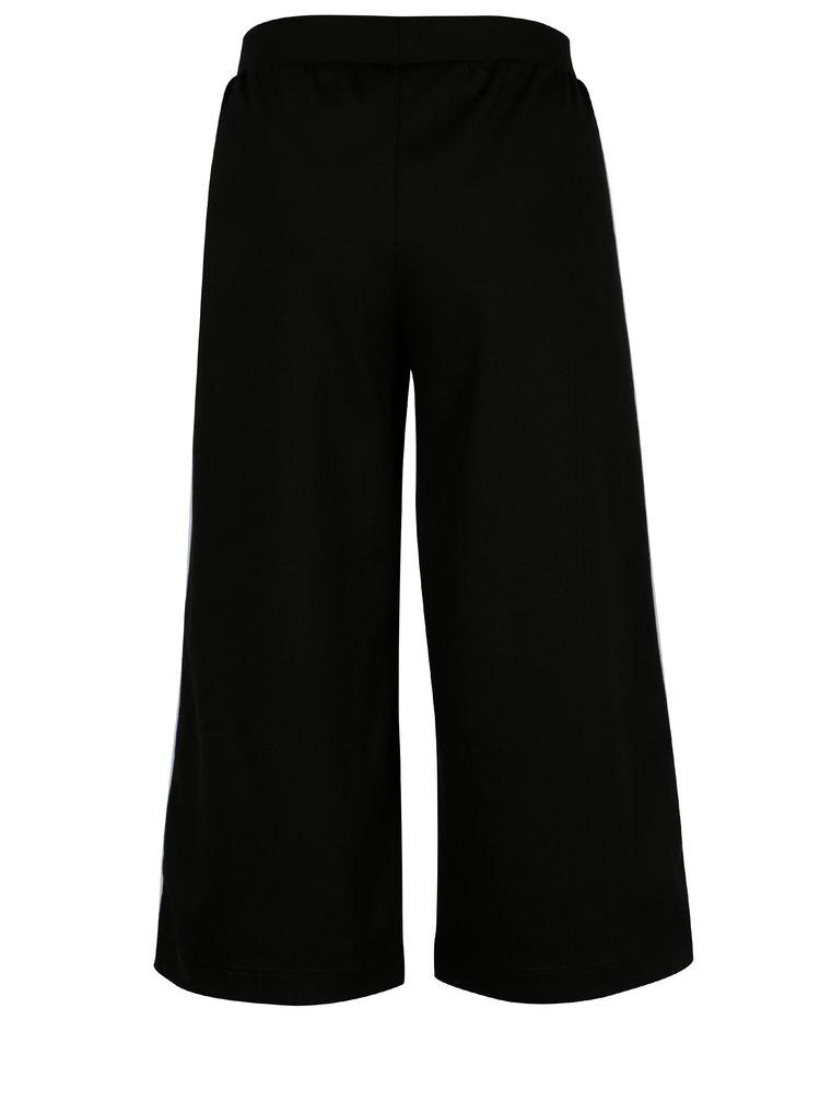 Pantaloni culottes negri cu dunga contrastanta - ONLY Brenda