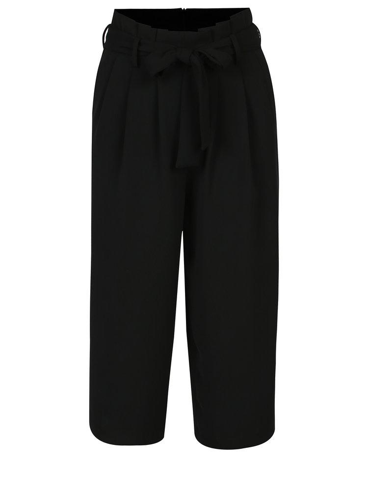Černé culottes s mašlí ONLY Karolina