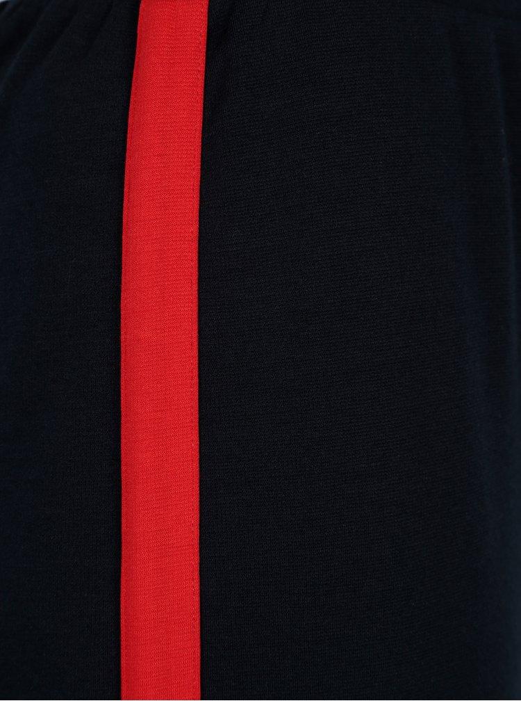 Pantaloni culottes bleumarin cu dunga contrastanta rosie - ONLY Brenda