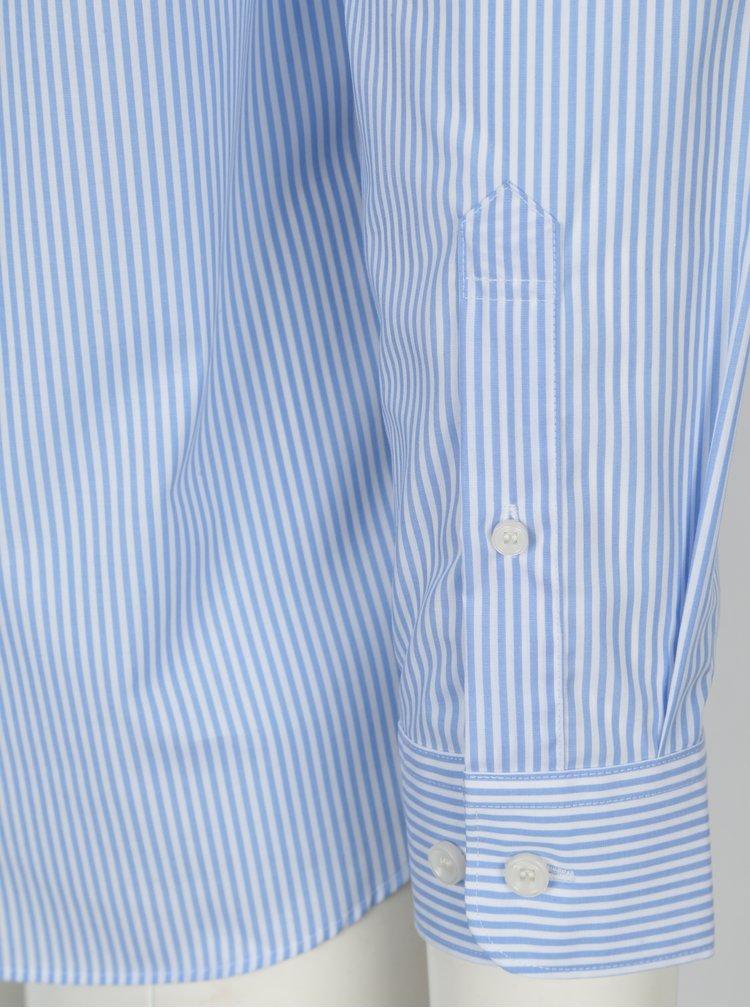 Světle modrá pruhovaná slim fit košile Selected Homme Done Sel