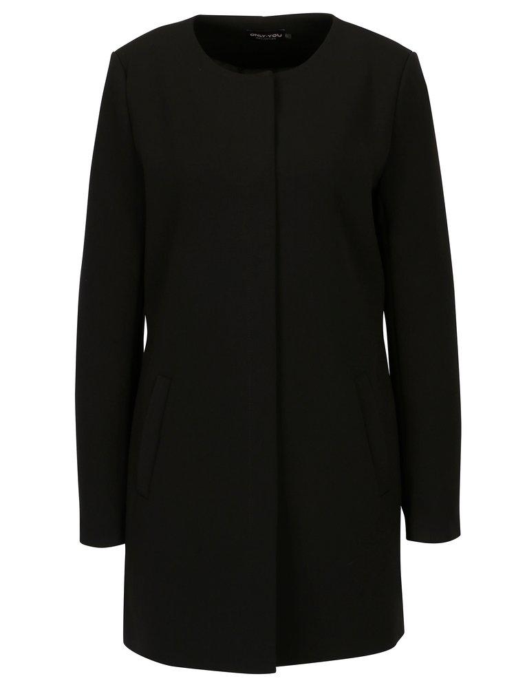 Černý kabát ONLY Cafe