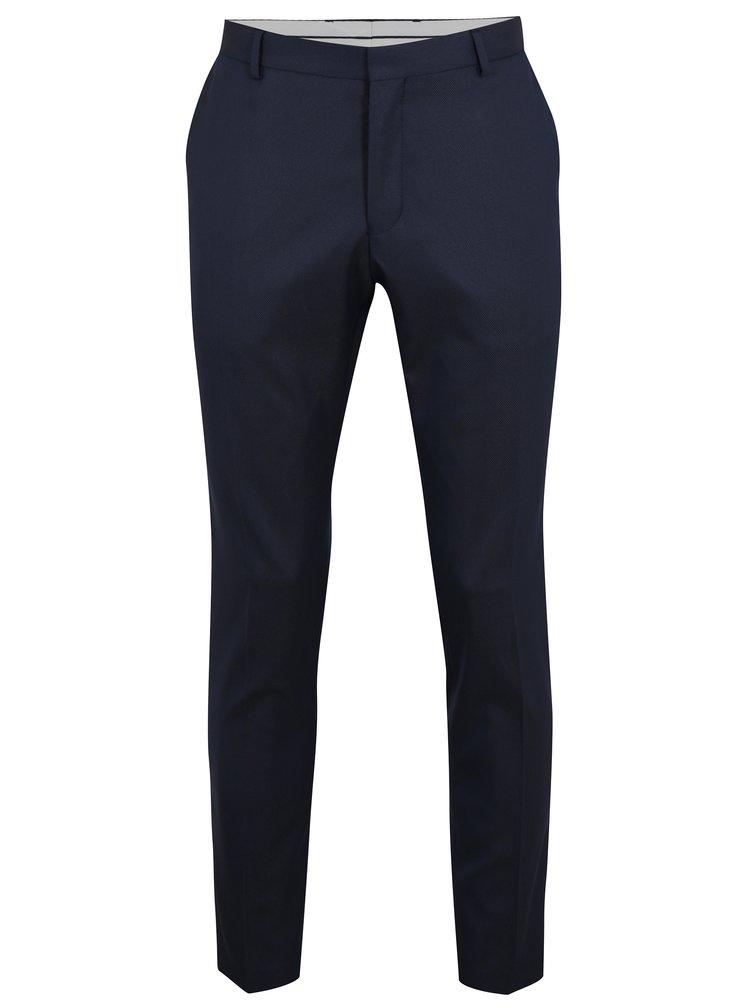 Tmavě modré oblekové kalhoty Selected Homme Done
