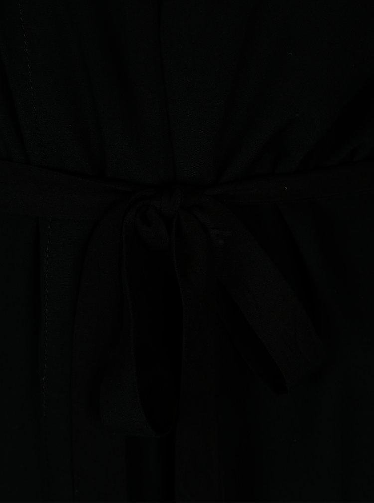 Černý lehký kardigan s textilním páskem ONLY Nova