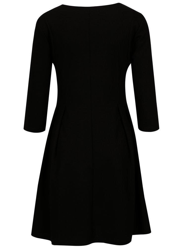 Černé šaty s 3/4 rukávem ONLY Vicky